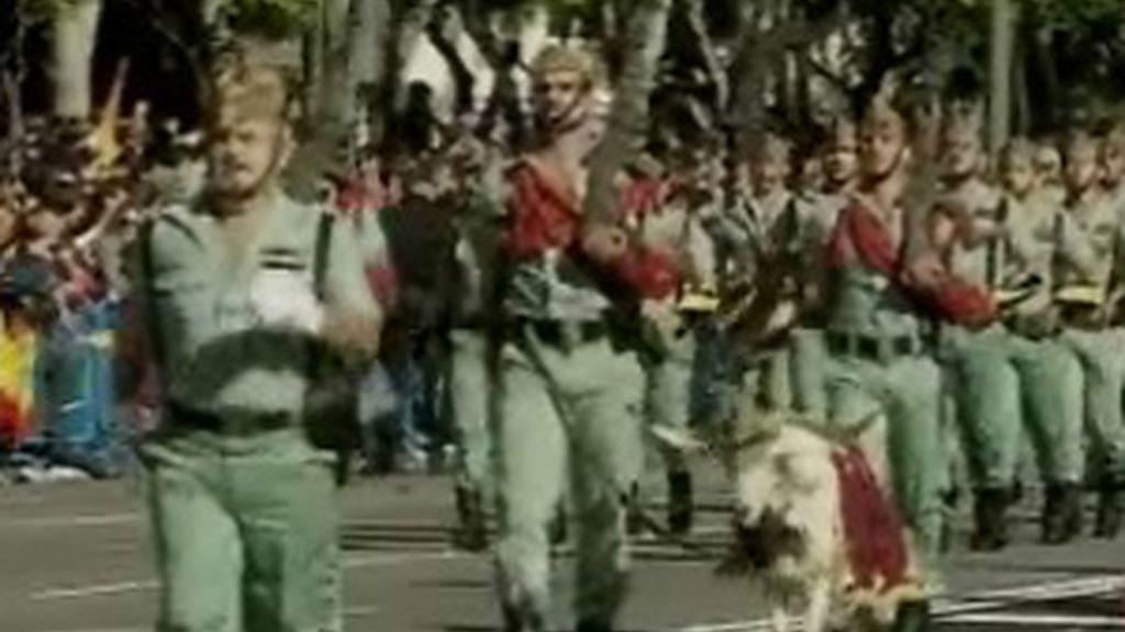 La legión en el desfile militar