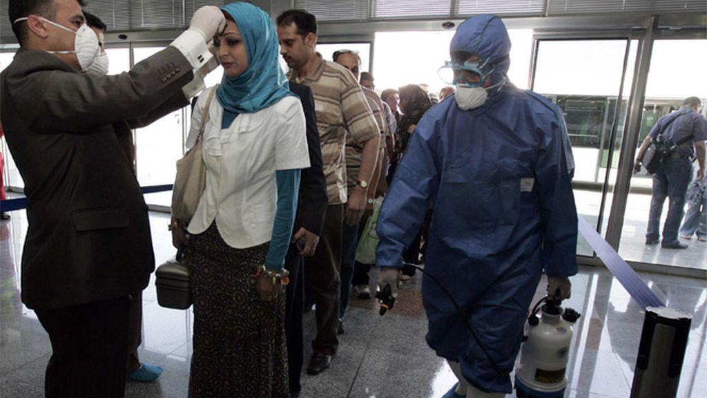 Control de gripe A en un aeropuerto