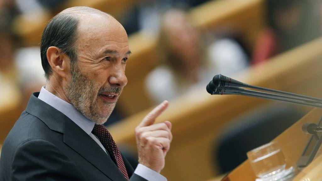 Rubalcaba durante su intervención en el pleno sobre el caso Bárcenas