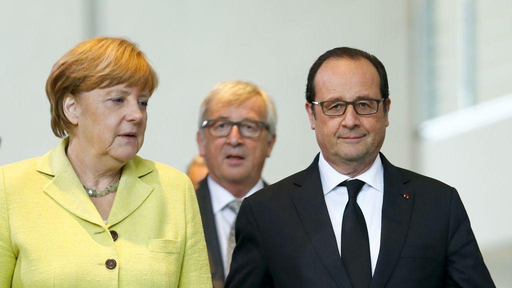 """Draghi, Lagarde, Merkel, Hollande y Juncker acuerdan trabajar """"con intensidad"""" sobre Grecia"""