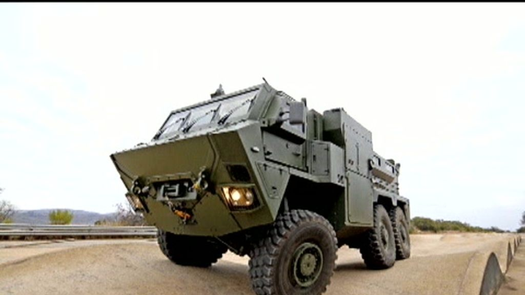 La patrulla española no viajaba en un vehículo antiminas