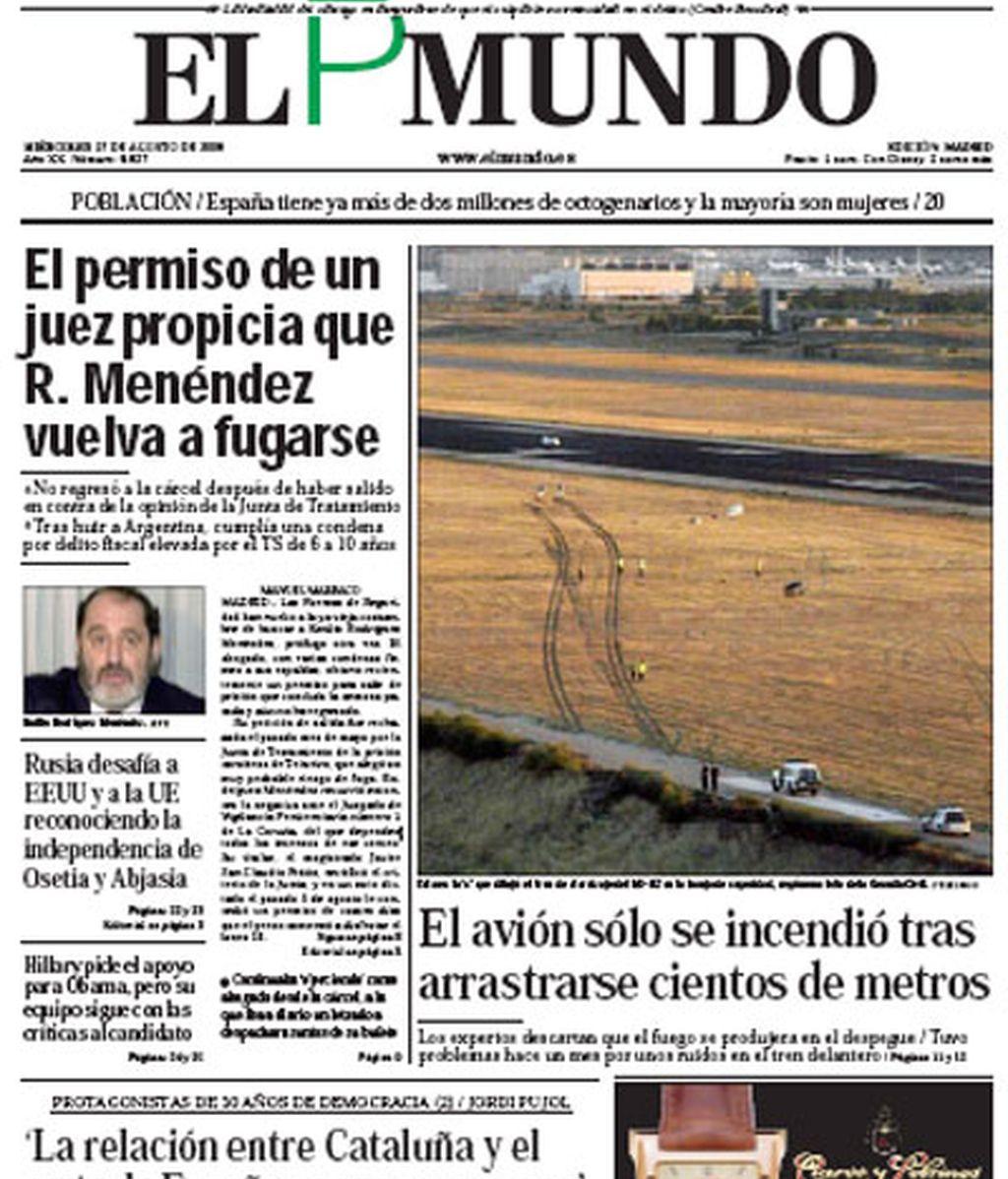 Imágenes exclusivas de Telecinco en los diarios nacionales