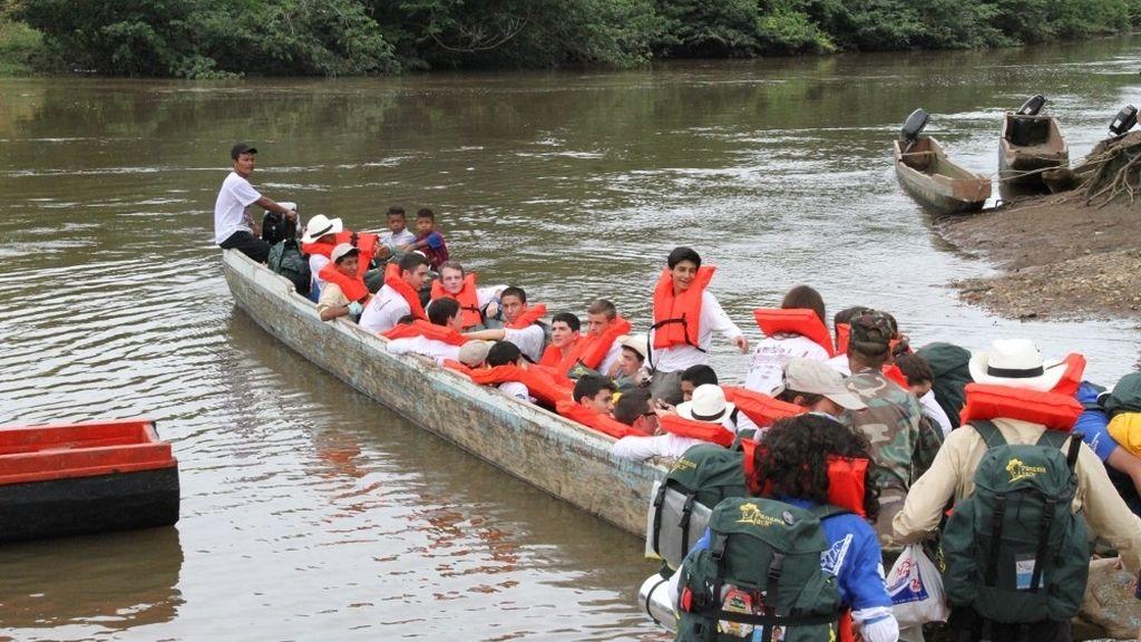 Embarcando en el río Chucunaque