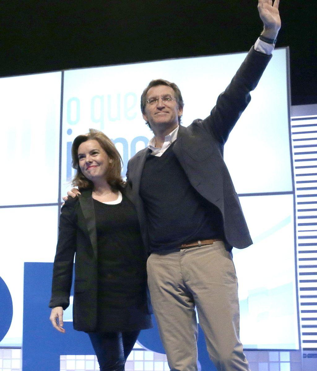 Soraya Sáenz de Santamaría y Alberto Núñez Feijoo
