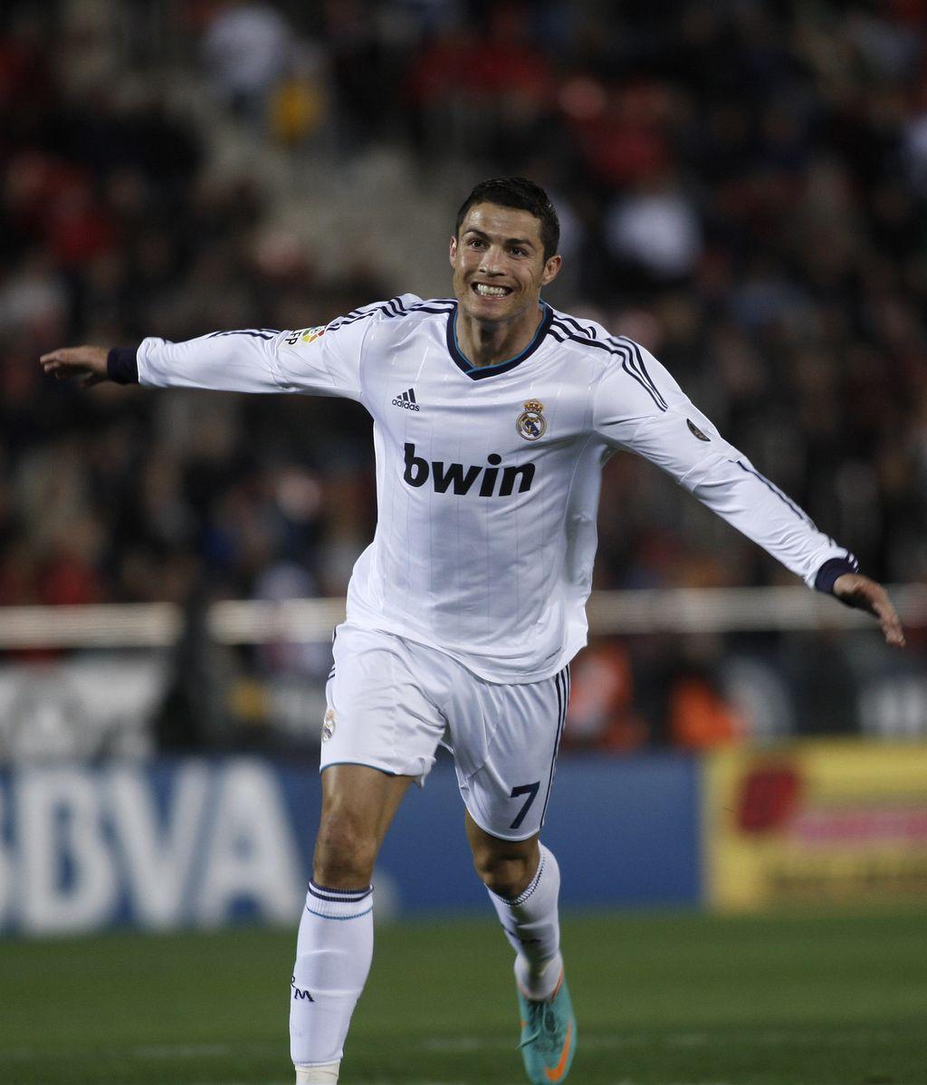 Cristiano Ronaldo celebra un gol ante el Mallorca
