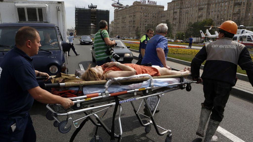 Moscú, metro de Moscú, accidente metro