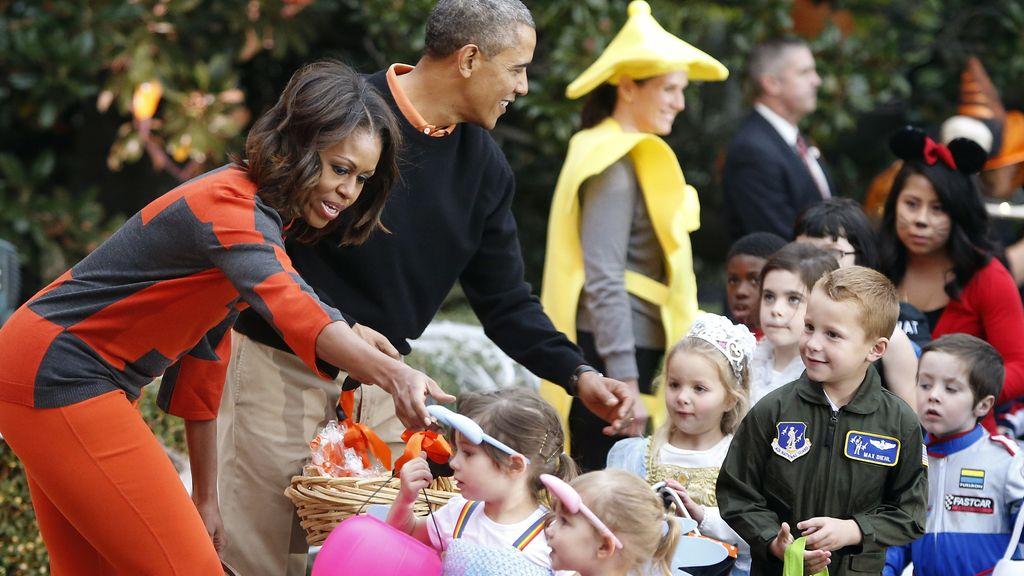 Los Obama celebran Halloween en la Casa Blanca