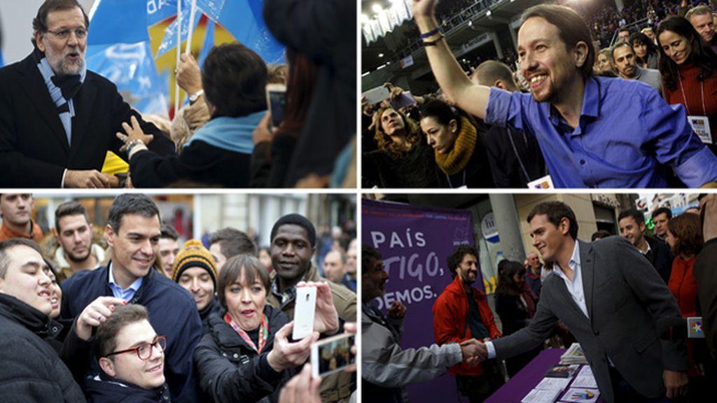 Los candidatos a la presidencia apuran los últimos días de campaña