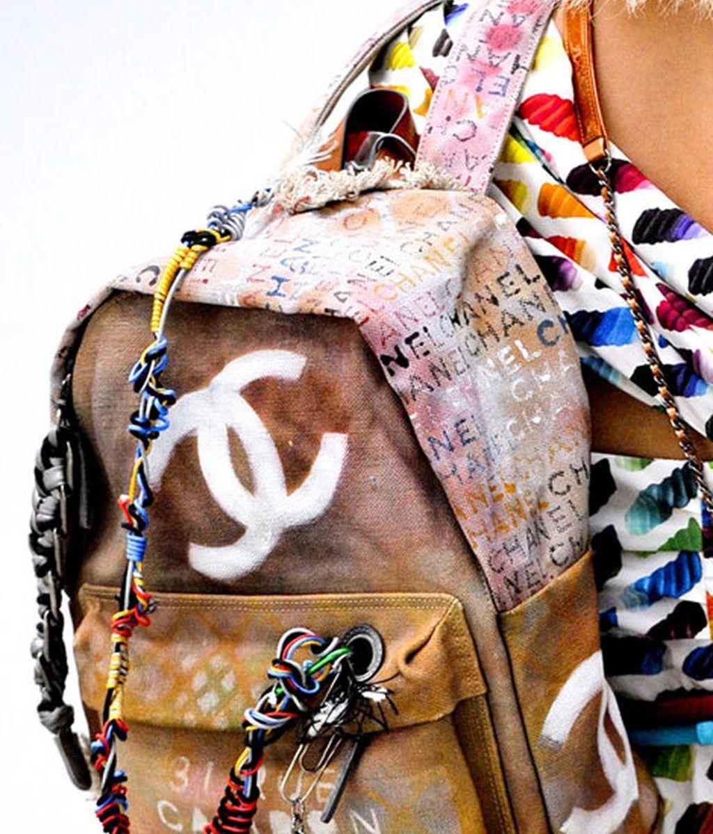 Mochila estampada de Chanel