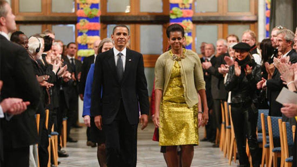 Obama recibe en Oslo el Premio Nobel de la Paz