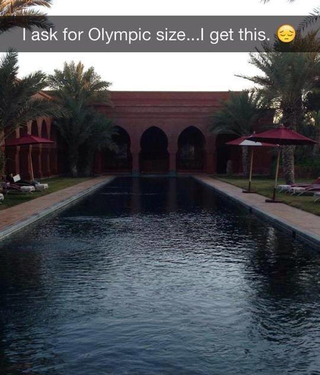 Pedí una piscina olímpica y conseguí esto...