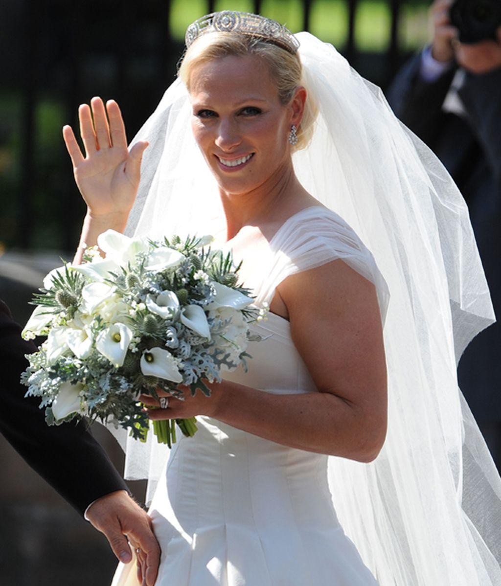 Estilismos desacertados en la boda de Zara Phillips