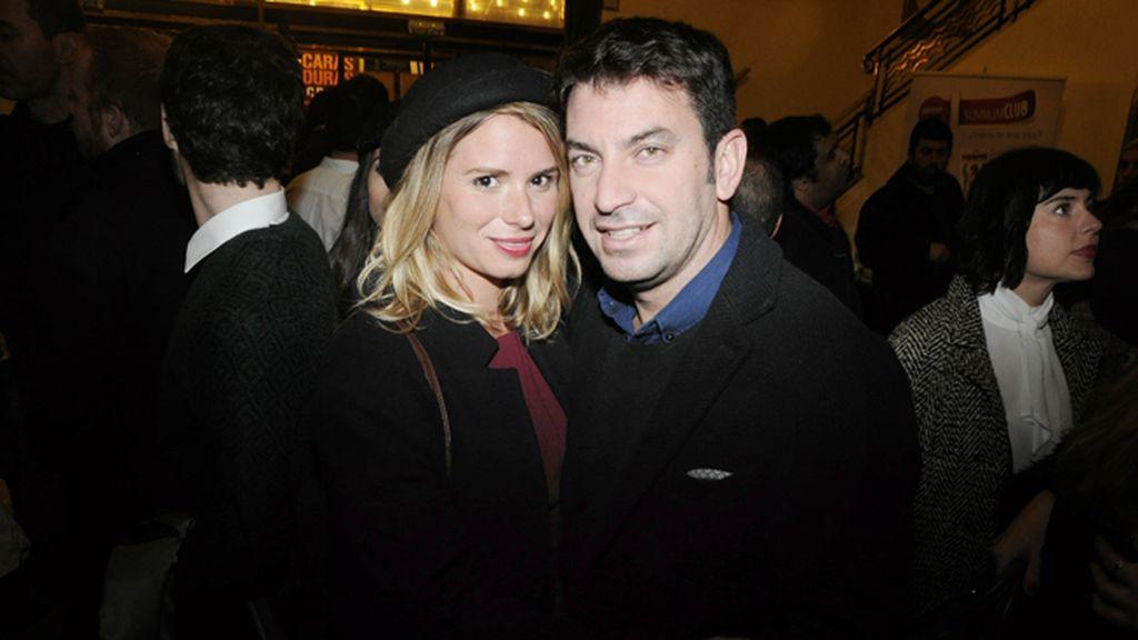 Arturo Valls con su mujer Patricia
