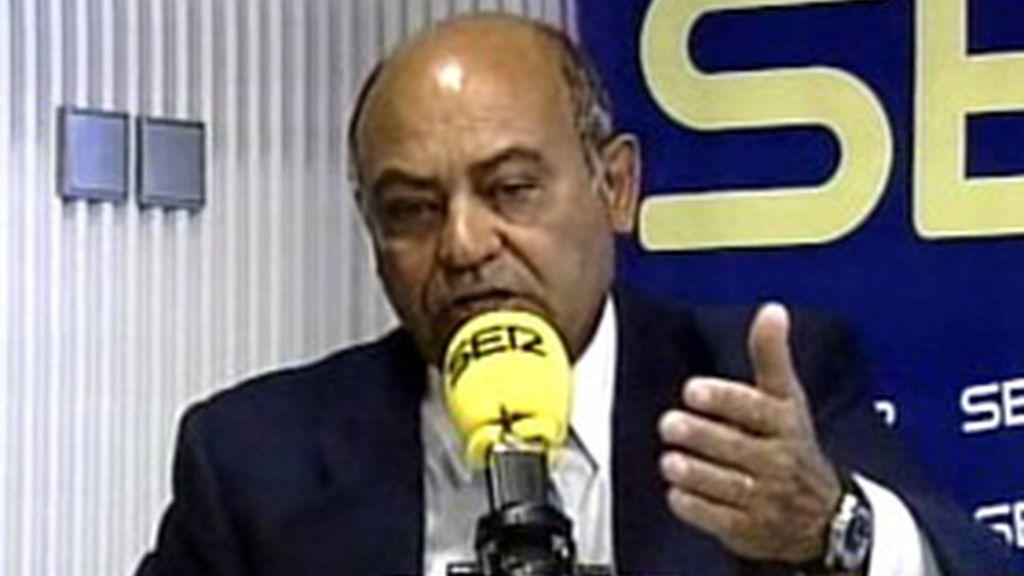Díaz Ferrán en una entrevista en la Cadena Ser