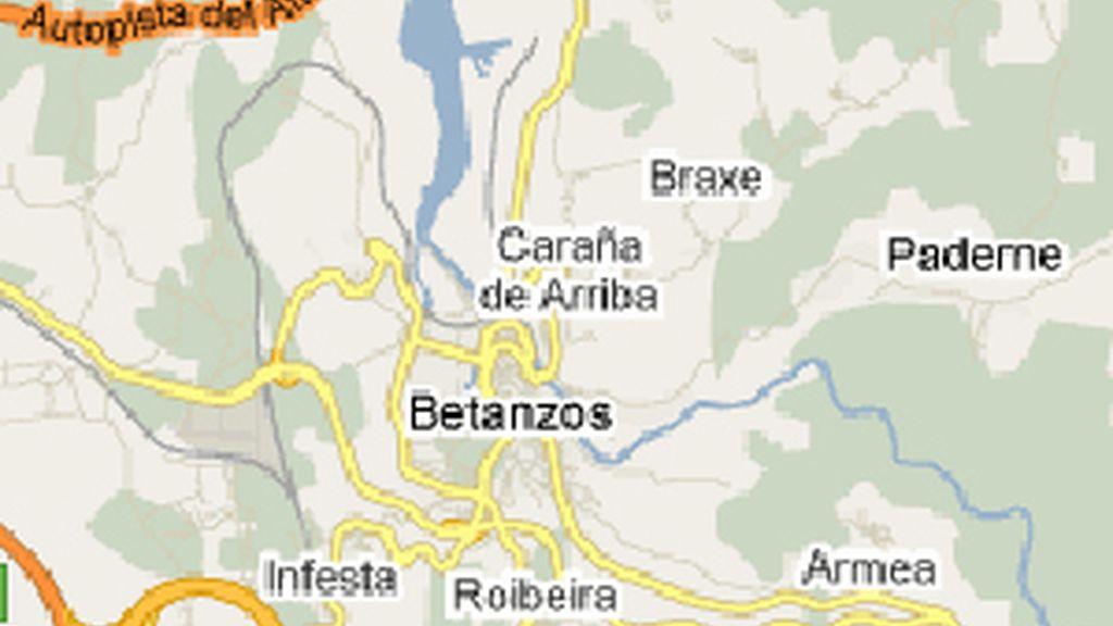 Mapa localizador de Betanzos