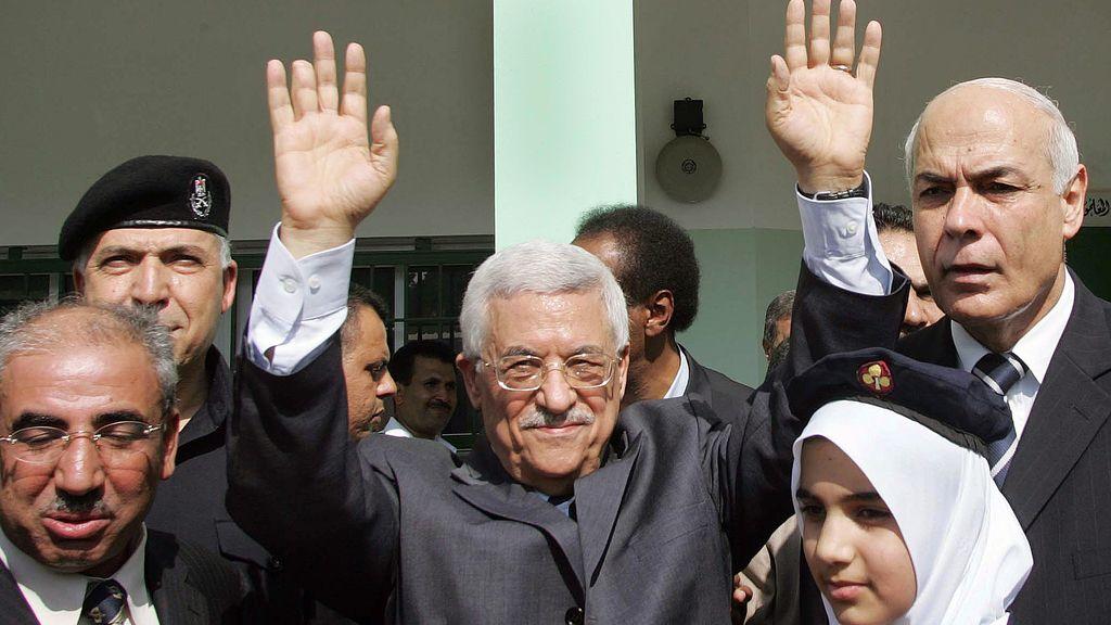 El presidente de la Autoridad Palestina, Mahmud Abbas en Gaza
