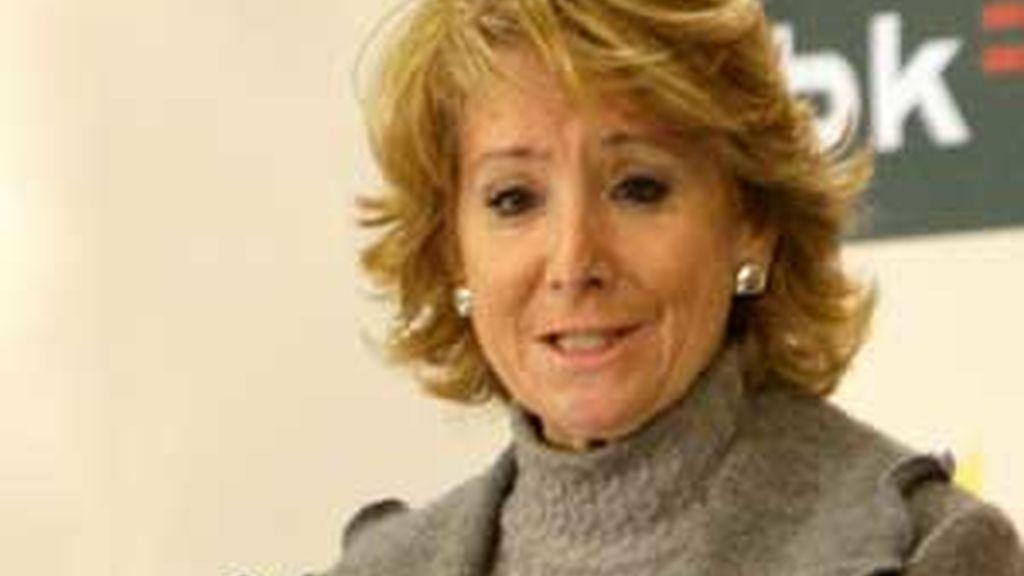 """Esperanza Aguirre está convencida de que """"todo se aclarará y saldrán a la luz los responsables"""". Foto: EFE"""