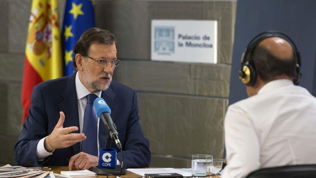 El presidente del Gobierno, Mariano Rajoy, en una entrevista