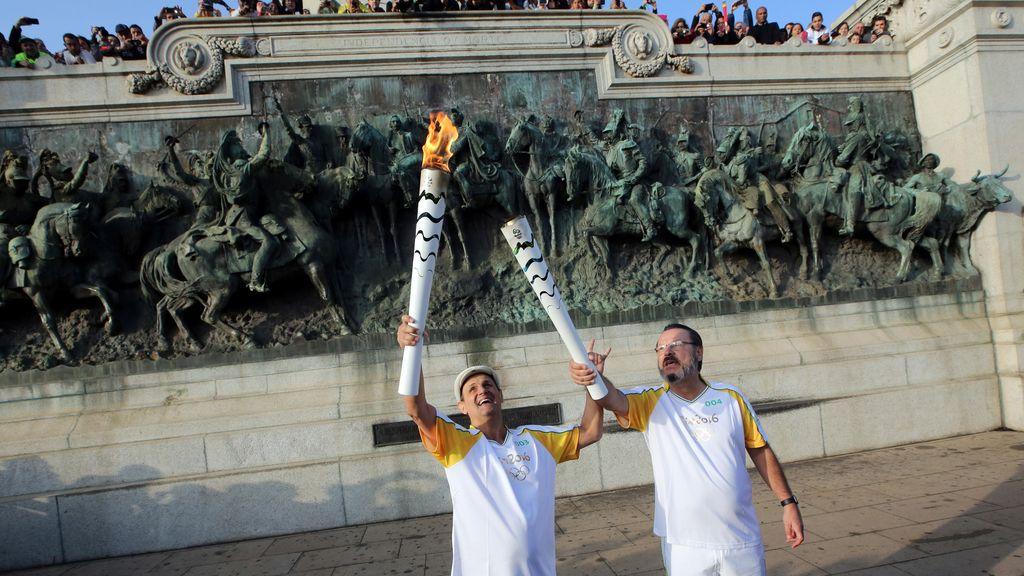 La antorcha Olímpica en Sao Paulo