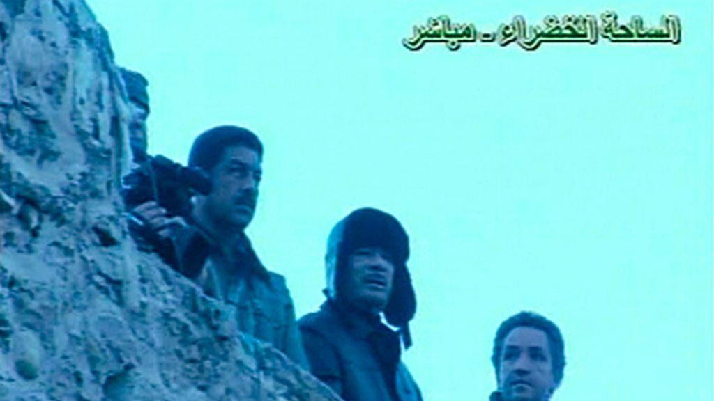 Gadafi en la Plaza Verde de Trípoli