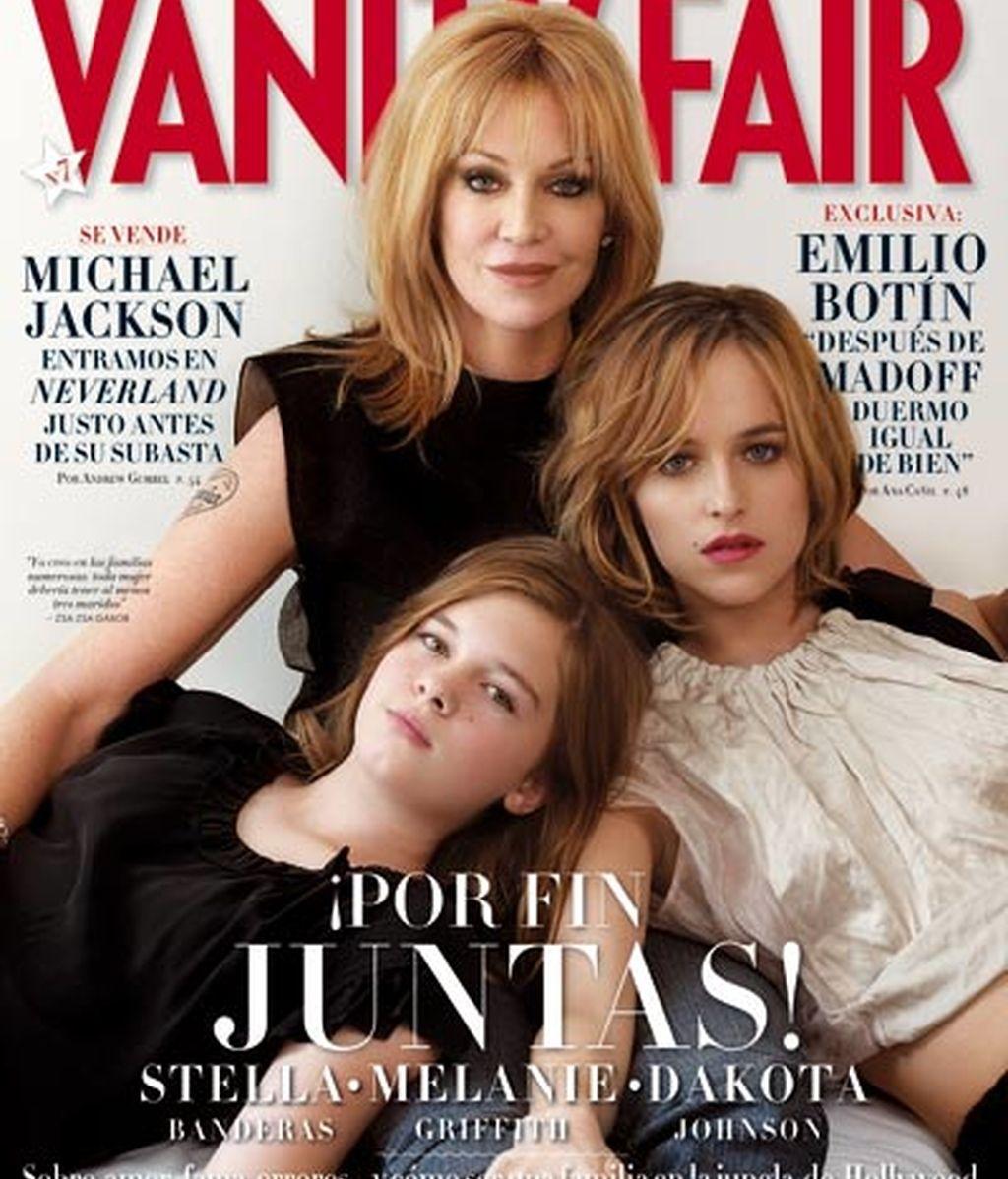 Melanie y sus hijas en 'Vanity Fair'