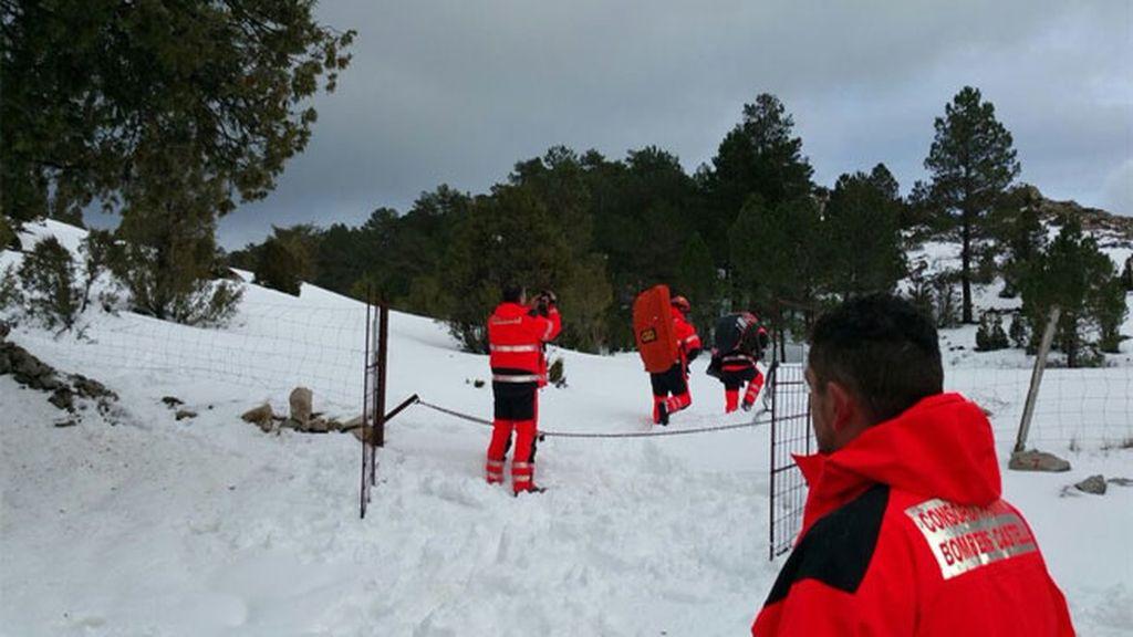 Parte del equipo de rescate en Castellón