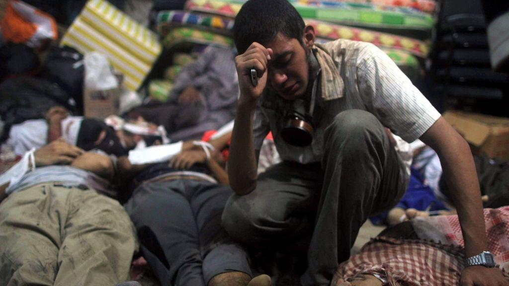 Enfrentamientos en Egipto. Foto: EFE