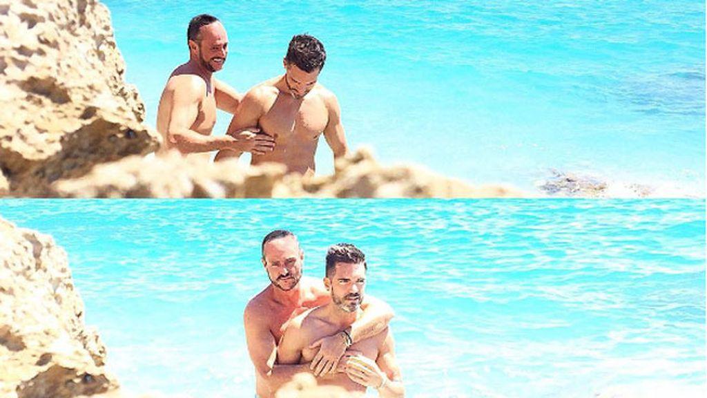 Caricias y risas en una playa de Alicante