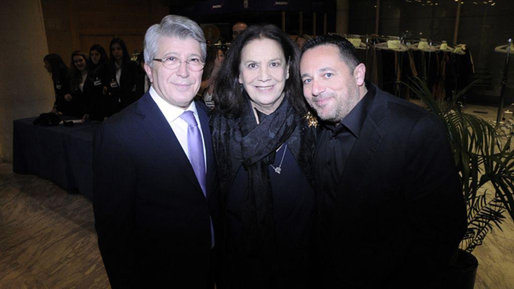 Enrique Cerezo, Terele Pávez y Pepón Nieto