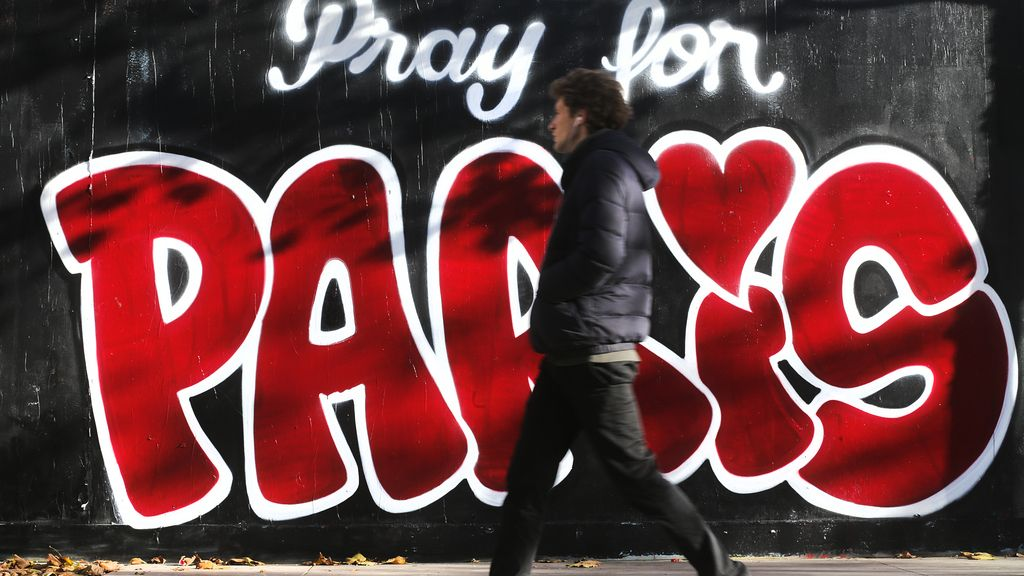Graffiti en homenaje a las víctimas