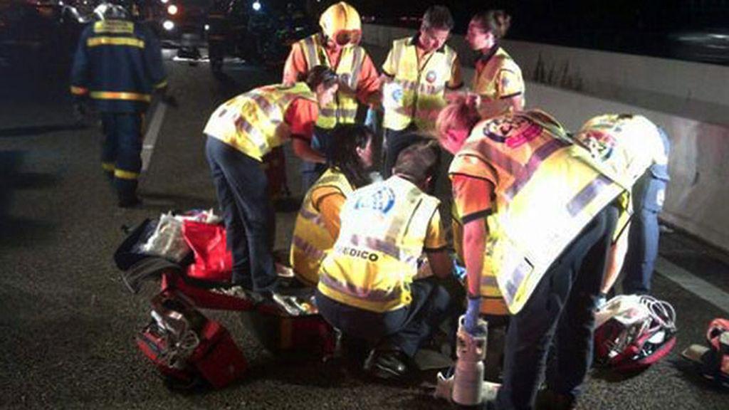 Un fallecido y un herido grave en un accidente entre dos coches en Madrid