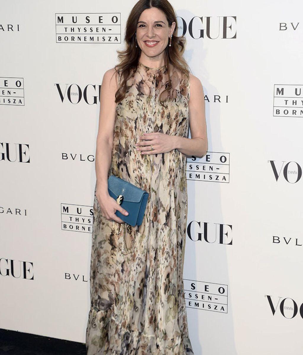 Raquel Sánchez Silva eligió un vestido largo estampado