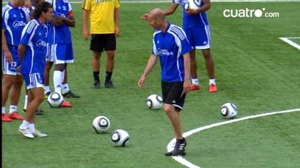 Zinedine Zidane entrena con los cracks