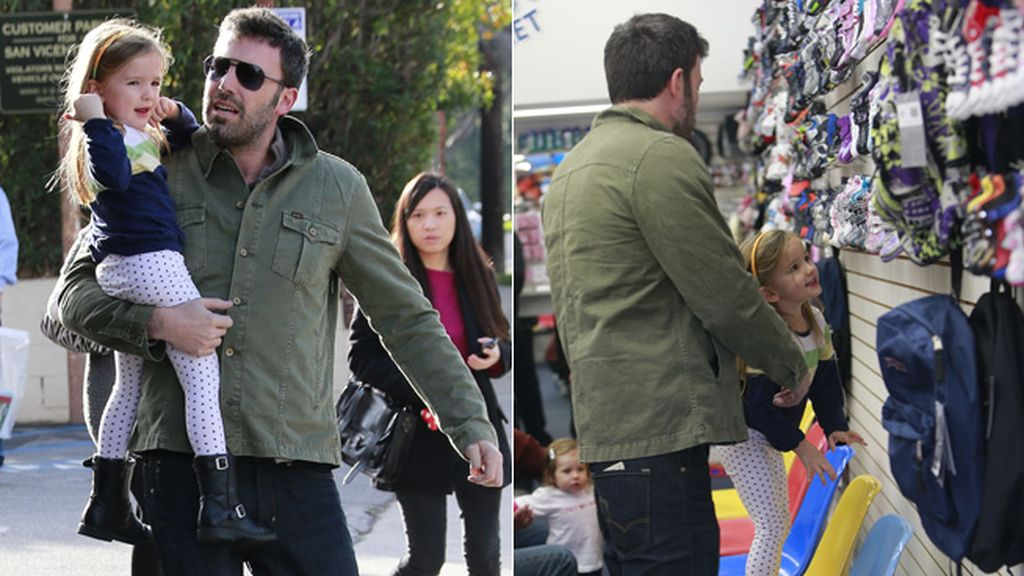 Ben Affleck ultima sus compras navideñas con la pequeña Seraphina