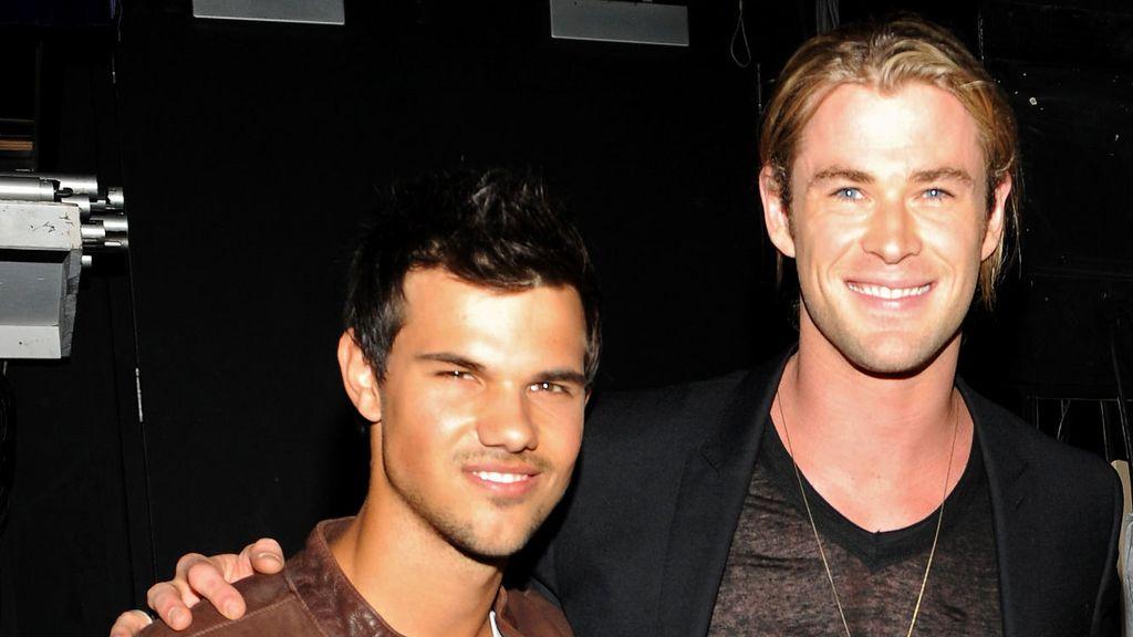 Taylor Lautner y Chris Hemsworth, los guapérrimos de la noche