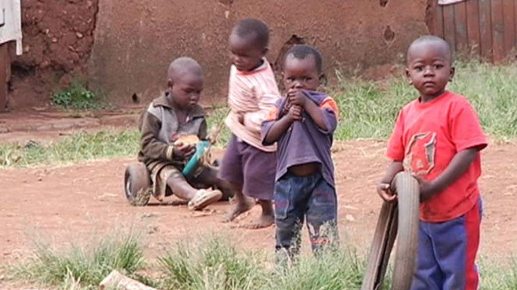 Muchos niños en Kenia tienen la calle como único hogar