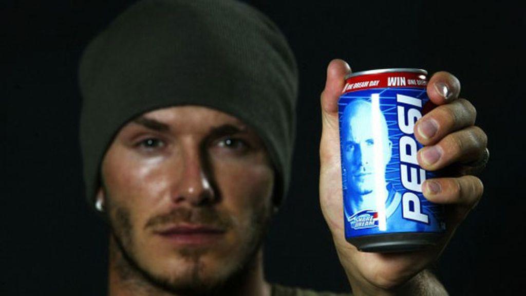 Beckham prefiere Pepsi