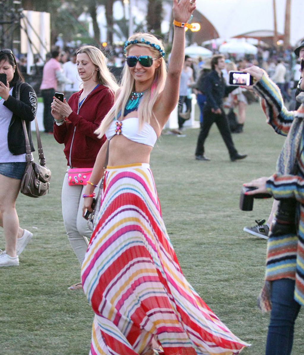 Los looks festivaleros de Paris Hilton, Ke$ha y Vanessa Hudgens