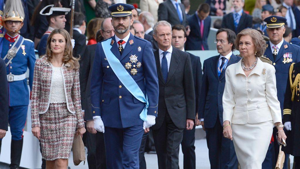 Los Príncipes de Asturias y la Reina Sofía