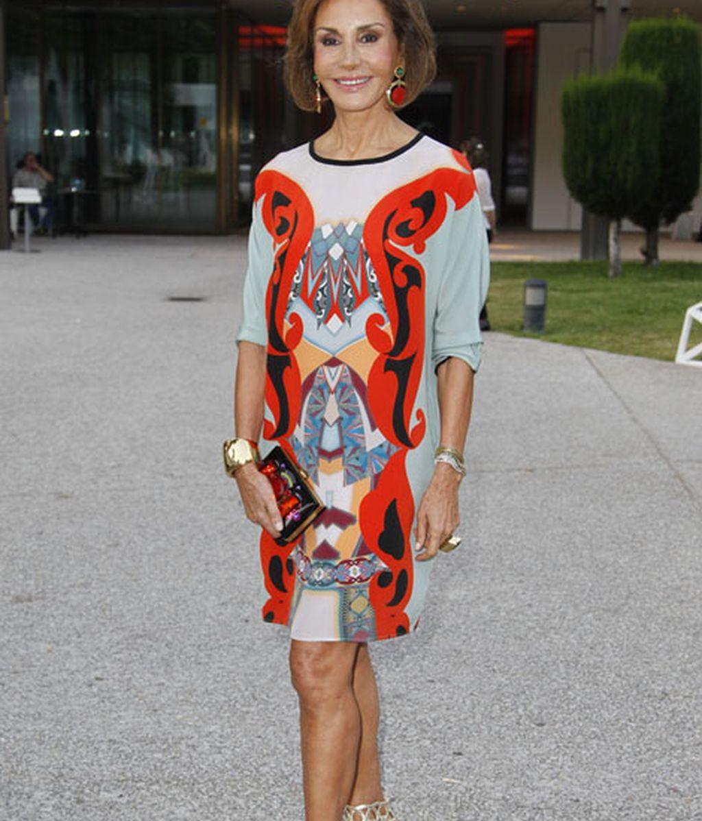 Nati Abascal no quiso faltar como gran amante de la moda