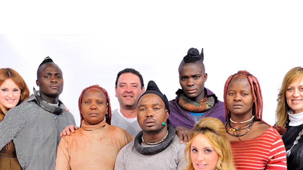 La familia Carrión-Roldán y Himba unidos