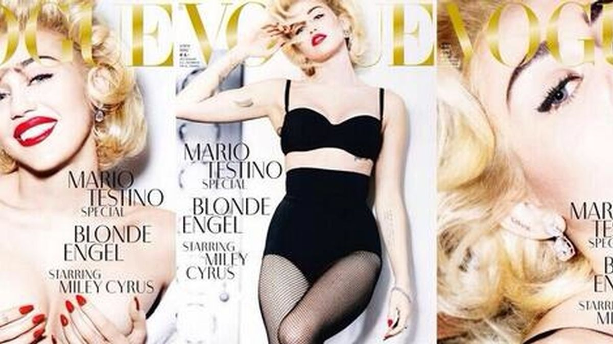 Miley, feliz en topless para Testino