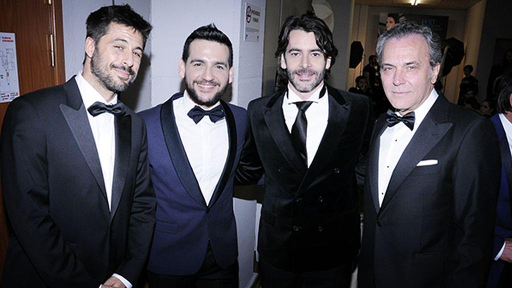 Póker de actorazos: Hugo Silva, Fran Perea, Eduardo Noriega y José Coronado