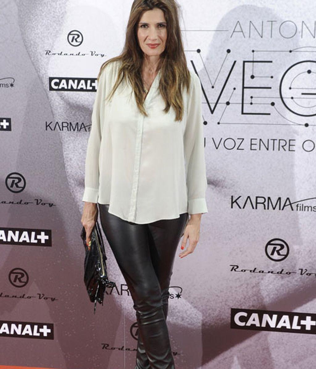 La actriz Elia Galera fue una de las asistentes a la premiere del documental