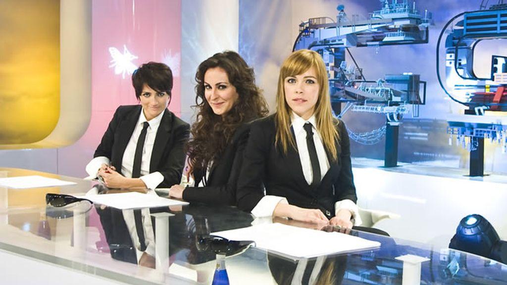 Silvia Abril, Ana Milán y Tània Sarrias en un momento en el plató