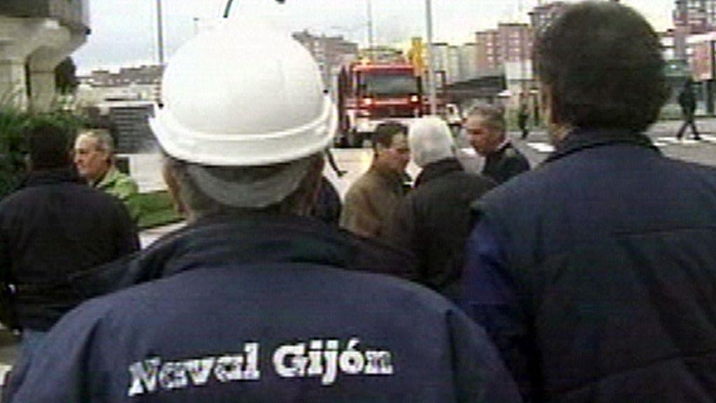 Trabajadores del Naval Gijón