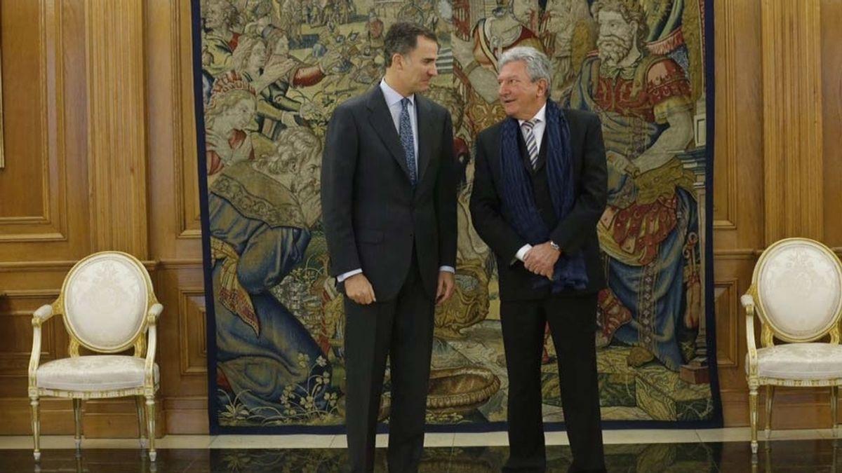 El rey recibe en Zarzuela al portavoz de Nueva Canarias