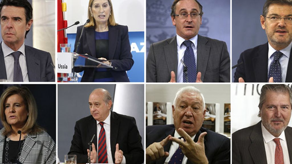 Los ministros que encabezarán listas del PP