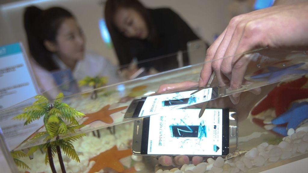 Galaxy Note 7 bajo el agua
