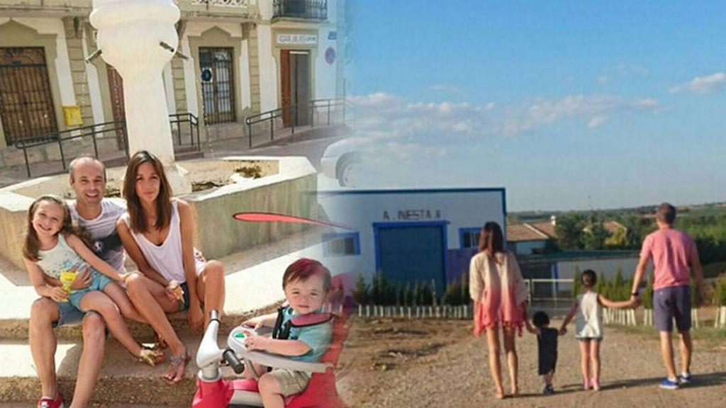 Andrés, Anna, Valeria (5) y Paolo (1), han pasado unos día en la localidad albaceteña